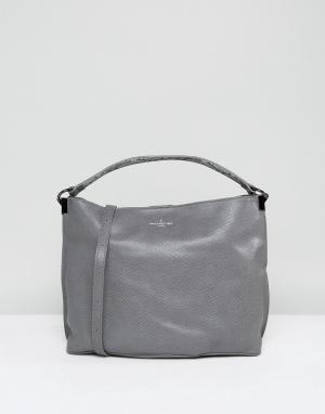 Pauls Boutique Серая сумка-хобо на плечо. Цвет: серый