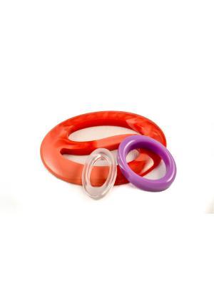 Пряжка Волшебная пуговица Овал инь-ян и кольцо для шарфа madam Пряжкина. Цвет: сиреневый, коралловый, прозрачный