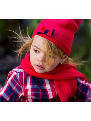 Комплект из шапки и шарфа Tutto Piccolo. Цвет: красный