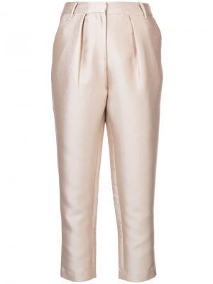 Строгие брюки металлик Co. Цвет: телесный