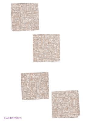 Комплект салфеток Art 4 шт. T&I. Цвет: бежевый, белый