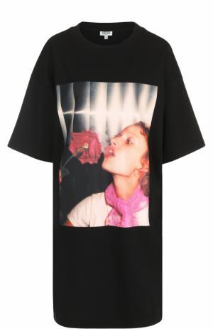 Платье-футболка с фотопринтом Kenzo. Цвет: черный