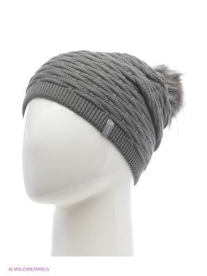 Анабель Беркле шапка женская с помпоном Berkle. Цвет: темно-серый