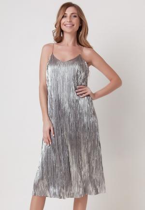 Платье Olga Skazkina. Цвет: серебряный