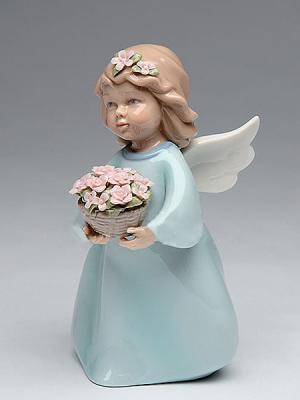 Фигурка Ангелочек Pavone. Цвет: голубой, коричневый