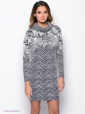 Платье PROFITO AVANTAGE. Цвет: синий, белый
