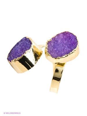 Кольцо Kameo-bis. Цвет: фиолетовый, золотистый