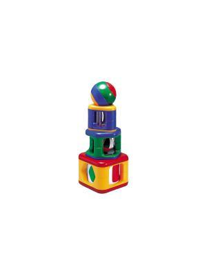 Пирамидка с подвижными элементами Tolo. Цвет: синий