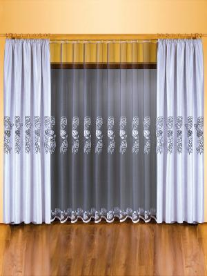 Комплект штор Wisan. Цвет: молочный, серый