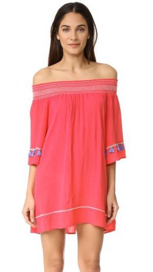 Богемное короткое платье OndadeMar. Цвет: розовый