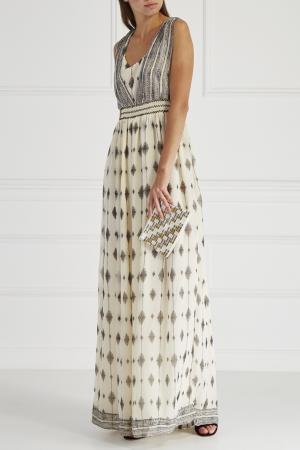 Платье с принтом HOSS INTROPIA. Цвет: кремовый
