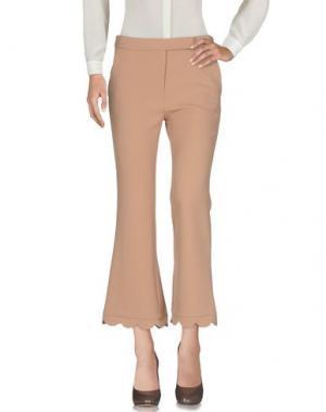 Повседневные брюки SIMONA CORSELLINI. Цвет: верблюжий