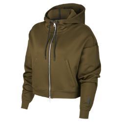 Женская худи Lab Essentials Full Zip Nike. Цвет: коричневый