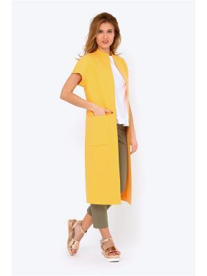 Жилет EMKA FASHION. Цвет: желтый