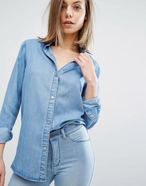 Dr Denim Джинсовая рубашка Blanch. Цвет: синий