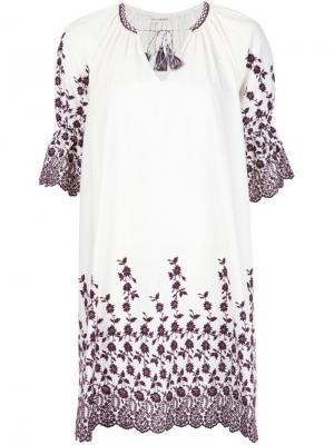 Платье с вышивкой Ulla Johnson. Цвет: белый