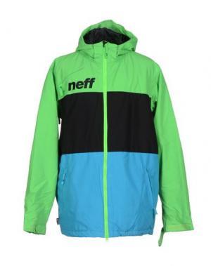 Куртка NEFF. Цвет: кислотно-зеленый