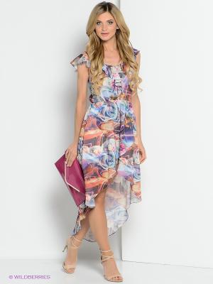 Платье ZAYKINS. Цвет: голубой