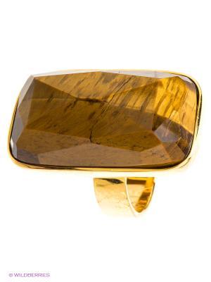 Кольцо Мастер Клио. Цвет: коричневый, золотистый