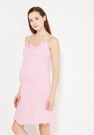 Сорочка ночная Hunny mammy. Цвет: розовый
