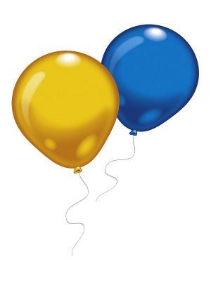4 шарика гигантских (разноцв.) Everts. Цвет: голубой