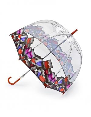 Зонт-трость Губы  by Fulton Lulu Guinness. Цвет: multicolor