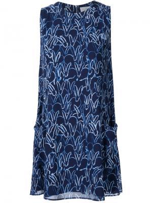 Платье без рукавов с принтом зайцев Grey Jason Wu. Цвет: синий