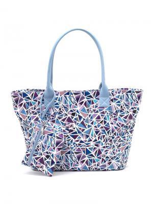 Сумка Solo true bags. Цвет: голубой, сиреневый