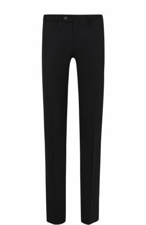 Шерстяные брюки прямого кроя Germano. Цвет: черный