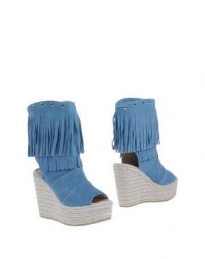 Полусапоги и высокие ботинки SPAZIOMODA. Цвет: пастельно-синий