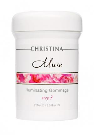 Отшелушивающий гоммаж для сияния кожи Christina. Цвет: белый