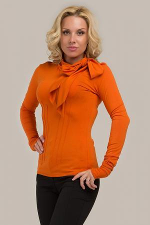 Водолазка с шарфом Gloss. Цвет: оранжевый