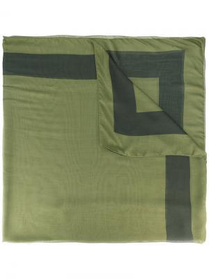 Printed scarf Haider Ackermann. Цвет: зелёный