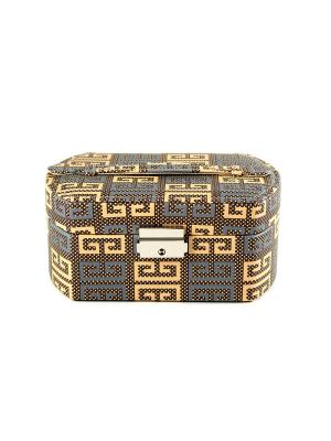 Шкатулка для ювелирных украшений CALVANI. Цвет: коричневый, светло-коричневый