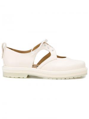 Туфли с вырезами Aalto. Цвет: белый