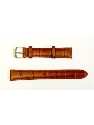 Ремень для часов .им.АЛЛИГАТОРА.16 мм. J.A. Willson. Цвет: коричневый