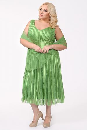 Платье Lia Mara. Цвет: салатовый