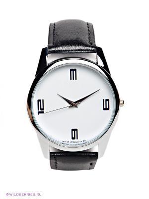 Часы 3-6-9-12 Mitya Veselkov. Цвет: черный, белый
