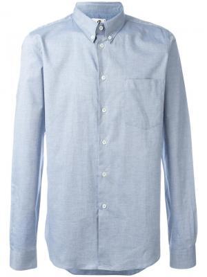 Рубашка с нагрудным карманом Ps By Paul Smith. Цвет: синий