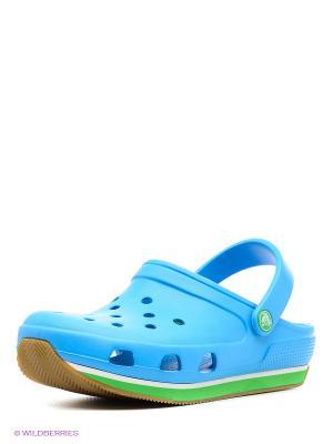 Сабо Crocs Retro Clog. Цвет: голубой