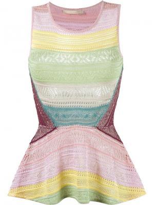 Knit peplum top Cecilia Prado. Цвет: многоцветный