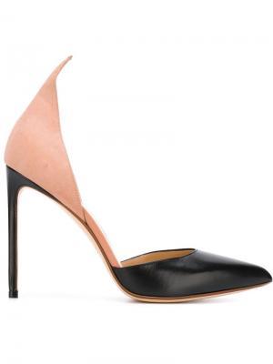 Туфли на высокой шпильке Francesco Russo. Цвет: чёрный