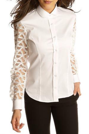 Рубашка GAZOIL. Цвет: белый