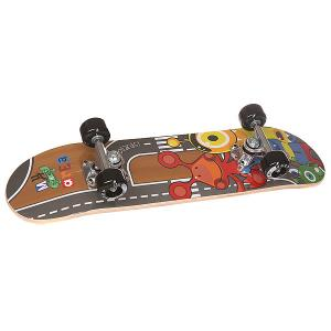 Скейтборд в сборе детский  Little Monster Multi 24 x 6 (15.2 см) Fun4U. Цвет: мультиколор