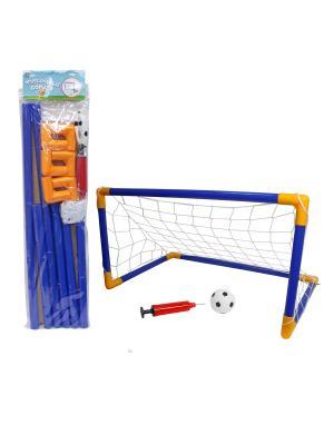 Футбольные ворота 107х78х71см, мяч, насос 1Toy. Цвет: прозрачный