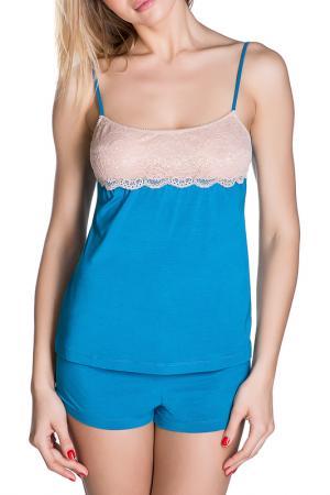 Топ Rose&Petal Homewear. Цвет: морская волна