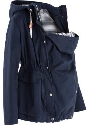 Легкая куртка для беременных со вкладкой малыша (темно-синий) bonprix. Цвет: темно-синий