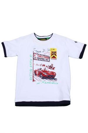 Футболка Ferrari. Цвет: белый