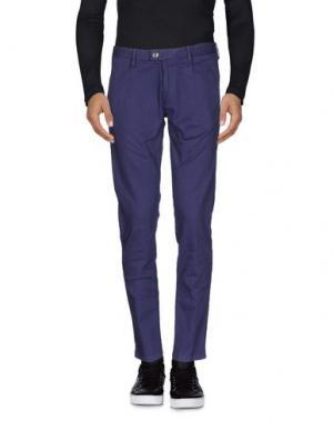 Джинсовые брюки PAOLO PECORA. Цвет: темно-фиолетовый