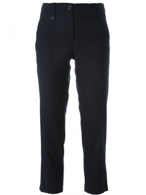 Укороченные брюки кроя слим Cotélac. Цвет: синий